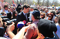 FILE PHOTO  - Liberal leader Justin Trudeau attend the Commemoration of the Armenian genocide 100th anniversary, March 5, 2015<br /> <br /> PHOTO : Pierre Roussel - Agence Quebec Presse
