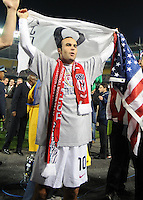 USMNT midfielder Landon Donovan (10) celebrates the qualification to South Africa 2010.   The USMNT tied Costa Rica 2-2 on the final game of the 2010 FIFA World Cup Qualifying round at RFK Stadium, Wednesday October 14, 2009.