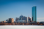 Back Bay skyline and Charles River, Boston, MA