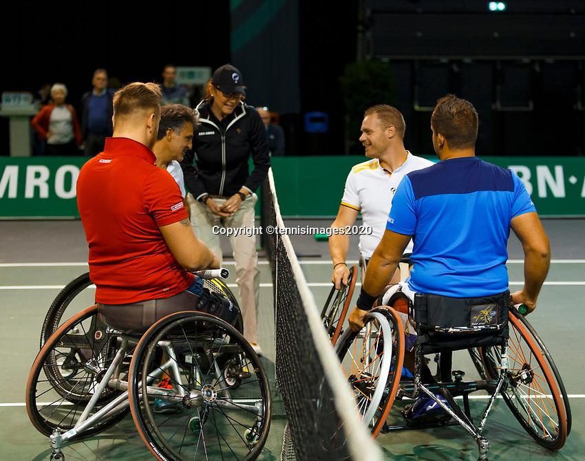 Rotterdam, The Netherlands, 9 Februari 2020, ABNAMRO World Tennis Tournament, Ahoy, Wheelchair: Tom Egberink (NED) and Maikel Scheffers (NED), Stephane Houdet (FRA) and Nicolas Peifer (FRA).<br /> Photo: www.tennisimages.com