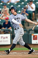 Omaha Storm Chasers outfielder Wil Myers #8 swings during the Pacific Coast League baseball game against the Round Rock Express on July 20, 2012 at the Dell Diamond in Round Rock, Texas. The Chasers defeated the Express 10-4. (Andrew Woolley/Four Seam Images).