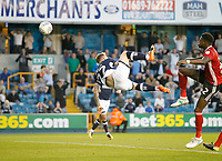 GOAL - Millwall's Aiden O'Brien hooks the ball goalwards during the Sky Bet Championship match between Millwall and Ipswich Town at The Den, London, England on 15 August 2017. Photo by Carlton Myrie.