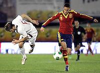 Spain's Rodrigo and Norway's Skjelvik  during an International sub21 match. March 21, 2013.(ALTERPHOTOS/Alconada) /NortePhoto