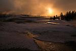 Old Faithful Sunrise, Yellowstone NP