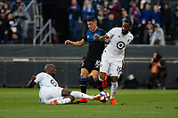 San Jose, CA - Saturday March 09, 2019: Major League Soccer (MLS) match between the San Jose Earthquakes and Minnesota United FC at Avaya Stadium.