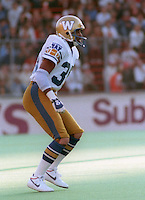 David Shaw Winnipeg Blue Bombers 1984. Photo F. Scott Grant