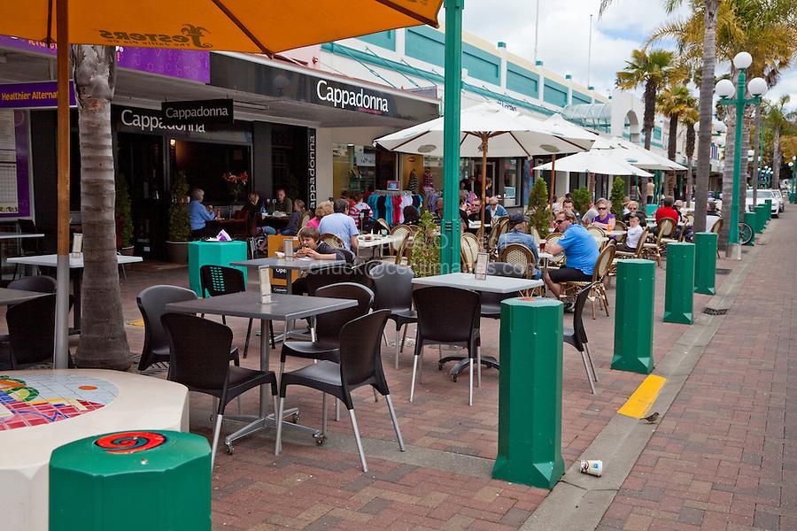 Cappadonna Outdoor Cafe, Emerson Street, Napier, north island, New Zealand.