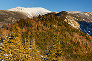 Franconia Notch State Park - Mount Lafayette from Eagle Cliff during the winter months in the White Mountains, New Hampshire USA.