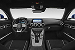 Stock photo of straight dashboard view of 2020 Mercedes Benz AMG-GT C 3 Door Coupe Dashboard