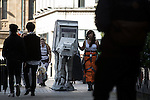 © Joel Goodman - 07973 332324 . 25/07/2015 . Manchester , UK . AT-AT on the streets . Visitors to Comic Con on the streets of Manchester after venue - Manchester Central's - doors are shut . Photo credit : Joel Goodman