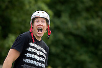 Chris Akrigg feature riding mongoose brakeless bike<br /> Shipley Glen , West Yorkshire   September 2008<br /> pic copyright Steve Behr / Stockfile