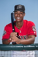 Billings Mustangs shortstop Jeter Downs (17) poses for a photo prior to the game against the Missoula Osprey at Dehler Park on August 20, 2017 in Billings, Montana.  The Osprey defeated the Mustangs 6-4.  (Brian Westerholt/Four Seam Images)