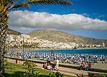 Spanien, Kanarische Inseln, Teneriffa, Los Christianos: Playa de las Vistas | Spain, Canary Islands, Tenerife, Los Christianos: Playa de las Vistas