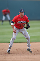 Bobby Dalbec (3) of the Arizona Wildcats in the field during a game against the UCLA Bruins at Jackie Robinson Stadium on May 16, 2015 in Los Angeles, California. UCLA defeated Arizona, 6-0. (Larry Goren/Four Seam Images)