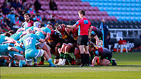 17th April 2021; Twickenham Stoop, London, England; English Premiership Rugby, Harlequins versus Worcester Warriors; Scott Baldwin of Harlequins listening intently to Referee Craig Maxwell-Keys