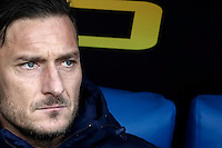 Calcio, Serie A: Lazio vs Roma. Roma, stadio Olimpico, 4 dicembre 2016.<br /> Roma's Francesco Totti waits for the start of the Italian Serie A football match between Lazio and Rome at Rome's Olympic stadium, 4 December 2016. Roma won 2-0.<br /> UPDATE IMAGES PRESS/Isabella Bonotto