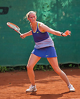 Netherlands, Amstelveen, August 22, 2015, Tennis,  National Veteran Championships, NVK, TV de Kegel,  Lady's 40+,  Caroline de Vries<br /> Photo: Tennisimages/Henk Koster