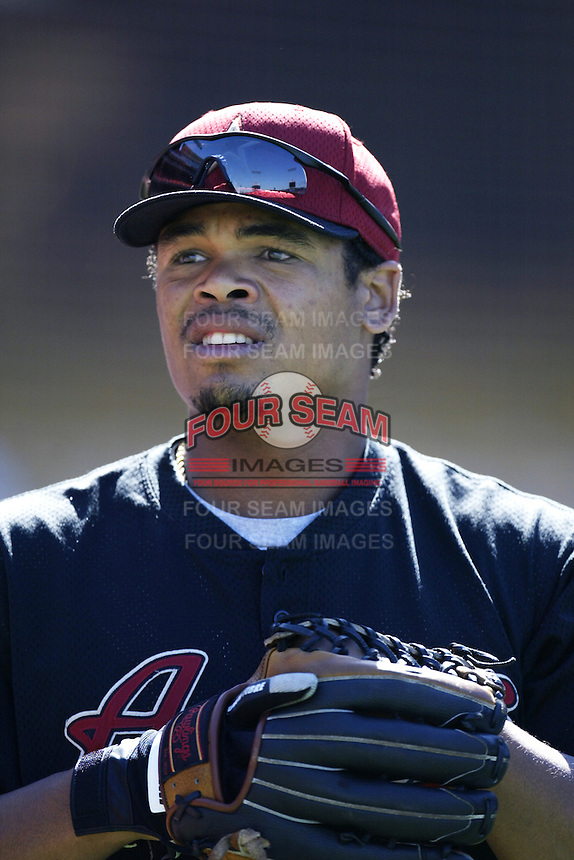 Daryle Ward of the Houston Astros before a 2002 MLB season game against the Los Angeles Dodgers at Dodger Stadium, in Los Angeles, California. (Larry Goren/Four Seam Images)