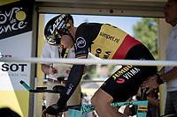 Wout van Aert (BEL/Jumbo - Visma) on the start ramp<br /> <br /> Stage 13 (ITT): Pau to Pau(27km)<br /> 106th Tour de France 2019 (2.UWT)<br /> <br /> ©kramon