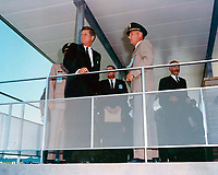 US President John F. Kennedy attend Greers Ferry Dam dedication ceremonies, October 3rd, 1963.<br /> <br /> PHOTO : Office of History, HQ, U.S. Army Corps of Engineers