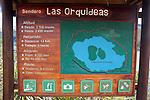 Sign, Sendero las orquideas (orchid trail)