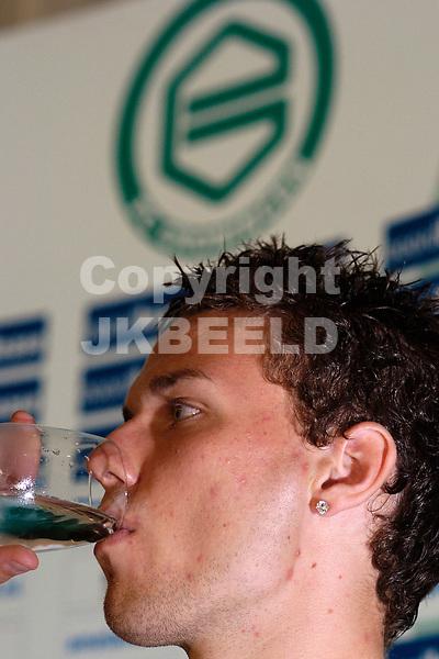 presentatie marcus berg bij fc groningen 15-08-2007 seizoen 2007-2008.fotograaf Jan Kanning