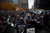 """New York, New York<br /> November 15, 2011<br /> <br /> After the police clear Zuccotti Park many of the evicted """"Occupy Wall Street"""" protesters, reconvened in Foley Square and march to  Juan Pablo Duarte Square at Canal and 6th Ave.<br /> <br /> They return before noon to Zuccotti Park to wait a court order to reenter the park."""