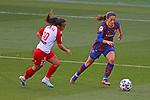 Liga IBERDROLA 2020-2021. Jornada: 10<br /> FC Barcelona vs Santa Teresa: 9-0.<br /> Mireya Garcia vs Aitana Bonmati.