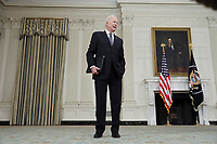 United States President Joe Biden responds to a reporter after making remarks on the state of vaccinations in the State Dining Room of the White House in Washington, DC on Tuesday, April 6, 2021. Earlier, the President said he expects a significant portion of the population to be vaccinated by the end of the summer. <br /> CAP/MPI/RS<br /> ©RS/MPI/Capital Pictures