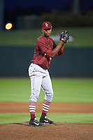 Frisco RoughRiders pitcher Victor Payano (44) gets ready to deliver a pitch during a game against the Springfield Cardinals on June 3, 2015 at Hammons Field in Springfield, Missouri.  Springfield defeated Frisco 7-2.  (Mike Janes/Four Seam Images)