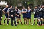 Ash Dixon talks. Maori All Blacks Tour of Fiji. Training at Kings College, Otahuhu, Auckland. July 7 2015. Photo: Marc Weakley