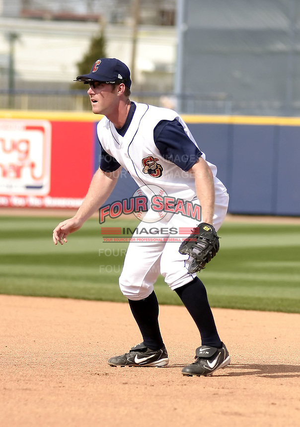 April 18, 2004:  Ryan Mulhern of the Lake County Captains, Low-A South Atlantic League affiliate of the Cleveland Indians, during a game at Classic Park in Eastlake, OH.  Photo by:  Mike Janes/Four Seam Images