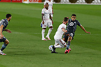 ST PAUL, MN - SEPTEMBER 06: Hassani Dotson #31 of Minnesota United FC battles for the ball during a game between Real Salt Lake and Minnesota United FC at Allianz Field on September 06, 2020 in St Paul, Minnesota.