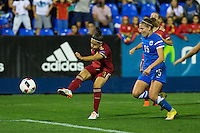 Spain's Veronica Boquete and Finland's Natalia kuikka  during the match of  European Women's Championship 2017 at Leganes, between Spain and Finland. September 20, 2016. (ALTERPHOTOS/Rodrigo Jimenez) NORTEPHOTO
