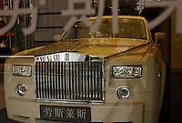 Rolls-Royce car in the car showroom in Shanghai, China..