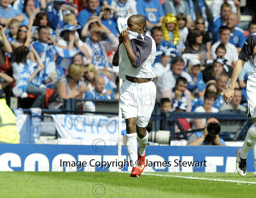 24/05/2008   Copyright Pic: James Stewart.File Name : sct_jspa32_qots_v_rangers.DAMARCUS BEASLEY CELEBRATES SCORING RANGERS SECOND.James Stewart Photo Agency 19 Carronlea Drive, Falkirk. FK2 8DN      Vat Reg No. 607 6932 25.Studio      : +44 (0)1324 611191 .Mobile      : +44 (0)7721 416997.E-mail  :  jim@jspa.co.uk.If you require further information then contact Jim Stewart on any of the numbers above........