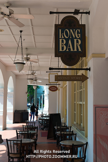 Raffles Hotel Long Bar Sign, Singapore