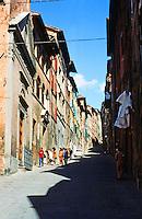 Siena:  Street scene.  Photo '83.