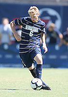 Ian Christianson #6 of Georgetown University during an NCAA match against Michigan State at North Kehoe Field, Georgetown University on September 5 2010 in Washington D.C. Georgetown won 4-0.