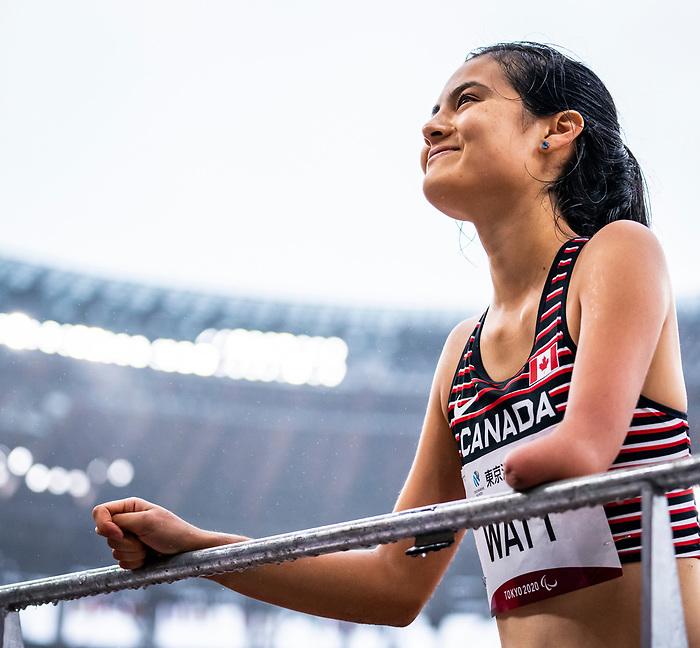 Amy Watt, Tokyo 2020 - Para Athletics // Para-athlétisme.<br /> Amy Watt competes in the women's long jump T47 final // Amy Watt participe à la finale du saut en longueur féminin T47. 03/09/2021.