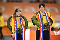 SCHAATSEN: HEERENVEEN: 22-11-2020, IJsstadion Thialf, Daikin NK ALLROUND, Patrick Roest, Antoinette de Jong, ©foto Martin de Jong