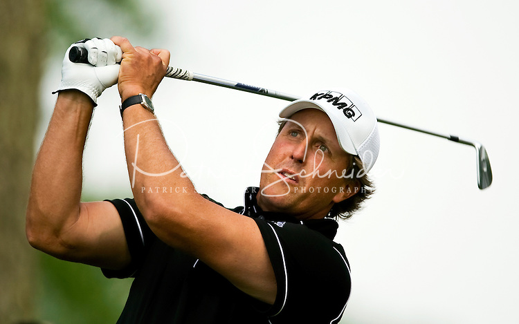 Golfer Phil Mickelson works the course during the Quail Hollow Championship golf tournament 2009. The event, formerly called the Wachovia Championship, is a top event on the PGA Tour, attracting such popular golf icons as Tiger Woods, Vijay Singh and Bubba Watson. Photo from the second round in the Quail Hollow Championship golf tournament at the Quail Hollow Club in Charlotte, N.C., Friday, May 01, 2009.