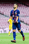 Luis Suarez of FC Barcelona reacts after had his t-shirt torn during the La Liga 2017-18 match between FC Barcelona and Las Palmas at Camp Nou on 01 October 2017 in Barcelona, Spain. (Photo by Vicens Gimenez / Power Sport Images