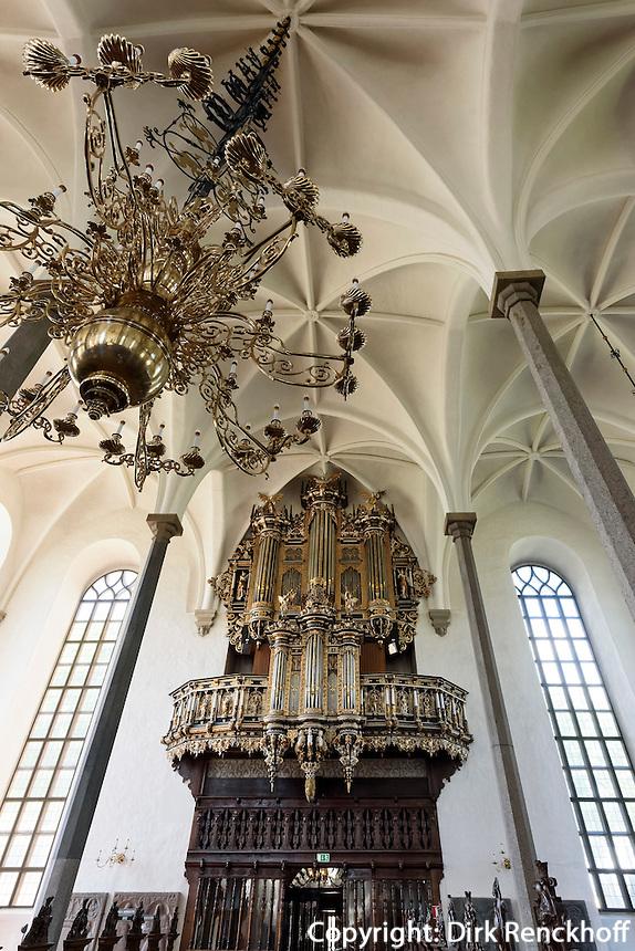 Orgel in Heliga Trefaldighetskyrkan (Dreifaltigkeits-Kirche). 17.Jh. in Kristianstad, Provinz Skåne (Schonen), Schweden, Europa<br /> Organ Heliga Trefaldighetskyrkan (Holytrinity Church in Kristianstad, Province Skåne, Sweden