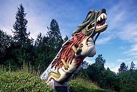 "Replica of ""SS Empress of Japan"" Figurehead along Seawall in Stanley Park, Vancouver, British Columbia, Canada"