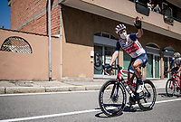 road captain Koen de Kort (NED/Trek-Segafredo) welcoming us back to racing<br /> <br /> 101st Milano-Torino 2020 (UCI 1.Pro)<br /> 1 day race from Mesero to Stupinigi (198km)