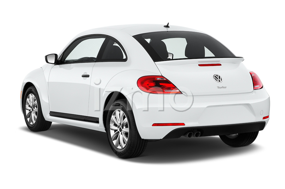 Car pictures of rear three quarter view of 2016 Volkswagen Beetle 1.8T-S-Auto-PZEV 3 Door Hatchback Angular Rear