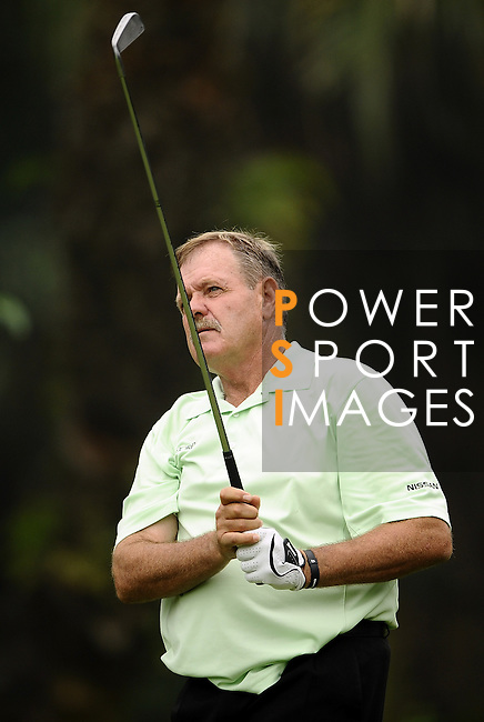 TAIPEI, TAIWAN - NOVEMBER 18:  Bobby Lincoln of South Africa tees off on the 17th hole during day one of the Fubon Senior Open at Miramar Golf & Country Club on November 18, 2011 in Taipei, Taiwan. Photo by Victor Fraile / The Power of Sport Images