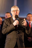 First Minister for Wales Mark Drakeford during the Celebration for Wales Six Nations Win at the National Assembly for Wales, Cardiff Bay, Wales, UK. Monday 18 March 2019