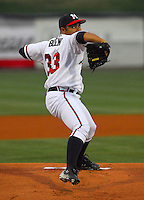 23 April 2007: Photo of the Mississippi Braves, the Atlanta Braves' Class AA affiliate of the Southern League, in a game against the Birmingham Barons at Trustmark Park in Pearl, Miss. Photo by:  Tom Priddy/Four Seam Images